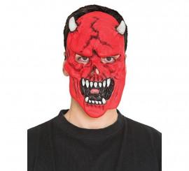Masque de Démon avec Cornes Blancs