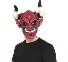 Masque de Démon avec des Cornes pour adultes