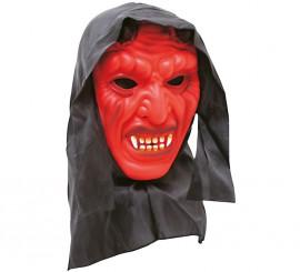 Máscara de Diablo rojo con capucha