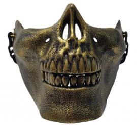 Máscara de Esqueleto dorado para adultos