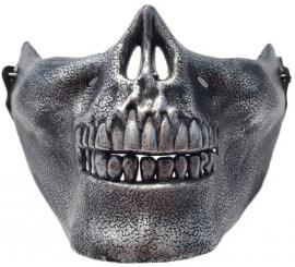 Máscara de Esqueleto plateada para adultos