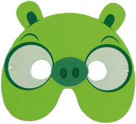 Máscara de EVA de Cerdito Verde de Videojuego