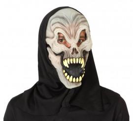 Máscara de Fantasma Calavera de PVC con capucha