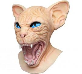 Máscara de gato esfinge o sphynx cat para Halloween