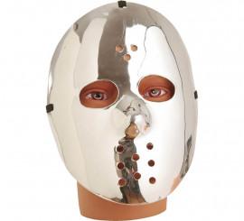 Máscara de Hockey plateada 23 cm