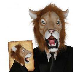 Máscara de León con pelo