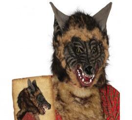 Masque de Tête de Loup Brun pour Halloween