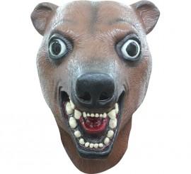 Máscara de oso pardo o marrón de látex