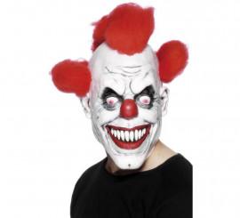 Máscara de Payaso con pelo para adultos