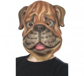 Máscara de Perro marrón para niños