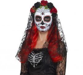 Máscara de Señorita del día de muertos para mujer