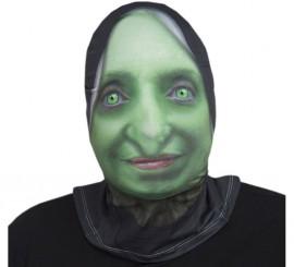 Máscara de tela de Bruja verde