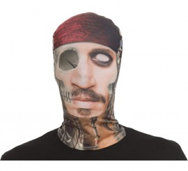 Máscara de tela de Pirata Tuerto