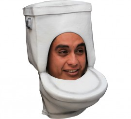 Masque de WC ou Toilette. Fabriqué en latex