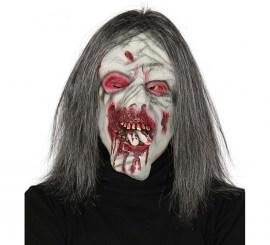 Máscara de Zombie come dedos con pelo