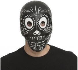Máscara Día de Los Muertos Negra
