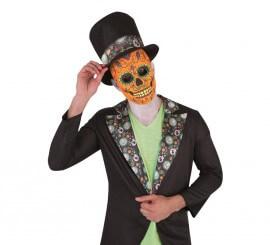 Máscara o careta lujo Catrín día de los muertos
