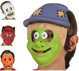 Máscara para Halloween en 4 modelos surtidos