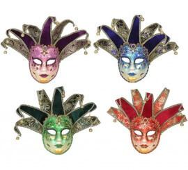 Máscara Veneciana con cascabeles en 4 colores surtidos