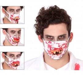 Mascarilla de Doctor Zombie en 4 modelos surtidos