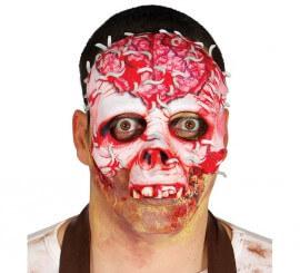 Moitié Masque Squelette avec des vers