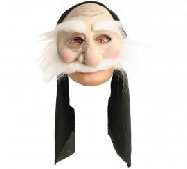 Demi-masque Vieil Homme avec capuche