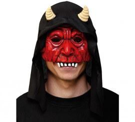 Demi-masque de Démon avec capuche