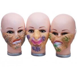 Demi-masque de Visage Pourris en plusieurs modèles