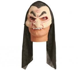 Demi-masque Vampire avec Capuche