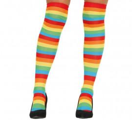 Medias a Rayas Multicolor
