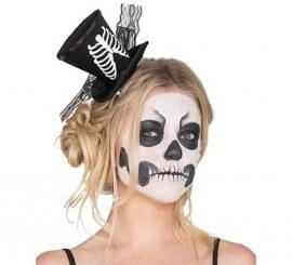 Mini Sombrero con Esqueleto
