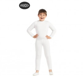 Mono interior de spandex Blanco para niños