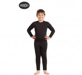 Mono interior de spandex Negro para niños