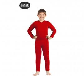 Mono interior de spandex Rojo para niños