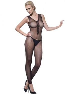Mono o Body Negro con escote ajustable para mujer