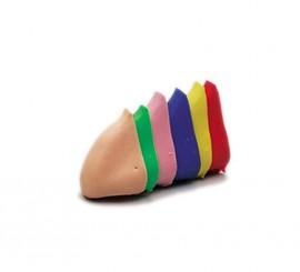 Narices de colores grandes con gomita surtidas