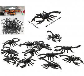 Pack de 12 Alacranes Negros 13 cm