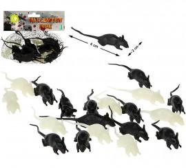 Pack de 12 Ratones Fluorescentes y Negros
