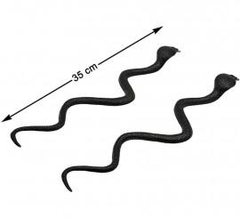 Pack de 2 Serpents Noirs 35 cm