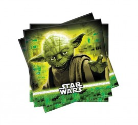 Pack de 20 Servilletas de Star Wars de 33x33 cm