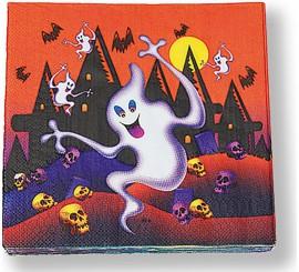 Pack de 20 Servilletas Fantasma 33 cm