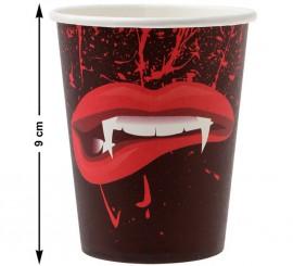 Pack de 6 Verres de Vampire 10 cm