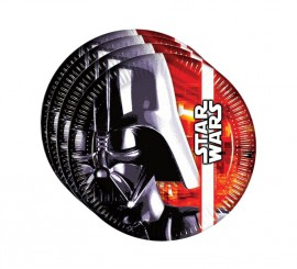 Pack de 8 Platos de Star Wars de 23 cm
