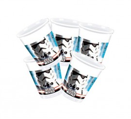 Pack de 8 Vasos de Star Wars de 200ml