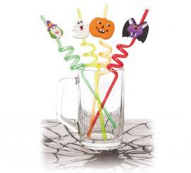Pajitas Halloween 26Cm. (Set 4 Uds.)