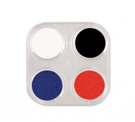 Palette de Maquillage à l'eau 4 couleurs de 2,5 ml
