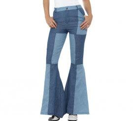 Pantalones de Campana a Cuadros para mujer