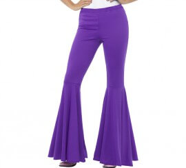 Pantalones de Campana Morado para mujer