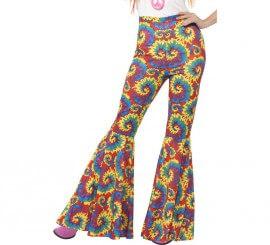 Pantalones de Campana Multicolor para mujer
