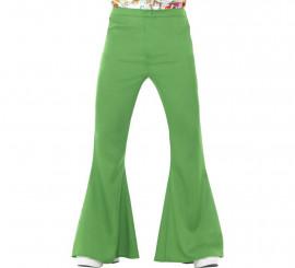 Pantalones de Campana Verde Años 60 para hombre